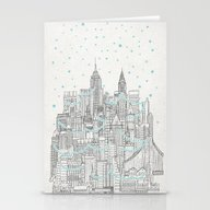 Winter In New York Stationery Cards