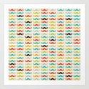 Hipster Mustaches Art Print