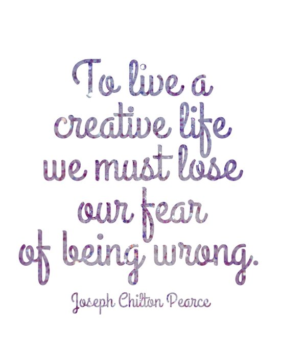 Live a Creative Life Art Print