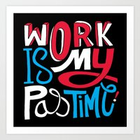 Pastime Art Print