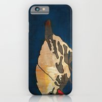 iPhone & iPod Case featuring Finch on Blue by owlandchickadee