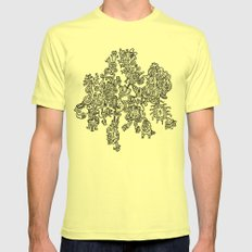 Nucleate Mens Fitted Tee Lemon SMALL