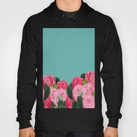 Floral & Turquoise Hoody
