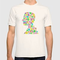 Mosaic Silhouette Mens Fitted Tee Natural SMALL
