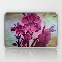 Pink Flowers And Rust Laptop & iPad Skin