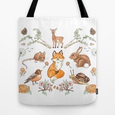 Lady Woodland Tote Bag