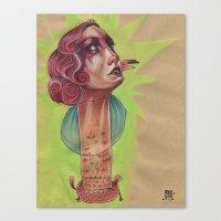 SUPER FLAMINGO Canvas Print