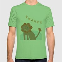 lion collage Mens Fitted Tee Grass SMALL
