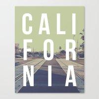 California on the Tracks Again Canvas Print