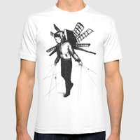 Boy Draws Wings Mens Fitted Tee White SMALL