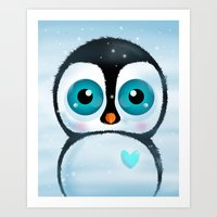 Joc The Penguin Art Print