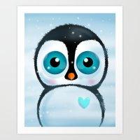 Joc The Penguin Art Print