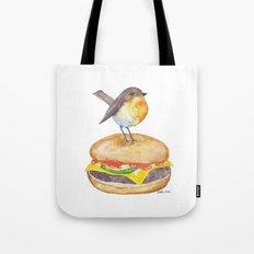 Chubadee on a Cheeseburger Tote Bag
