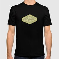Grow Write Guild Seal Mens Fitted Tee Black SMALL