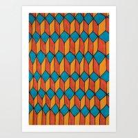 Pattern color Art Print