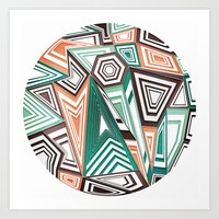 Funky in the Middle Art Print