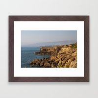 The sea ​​coast Framed Art Print