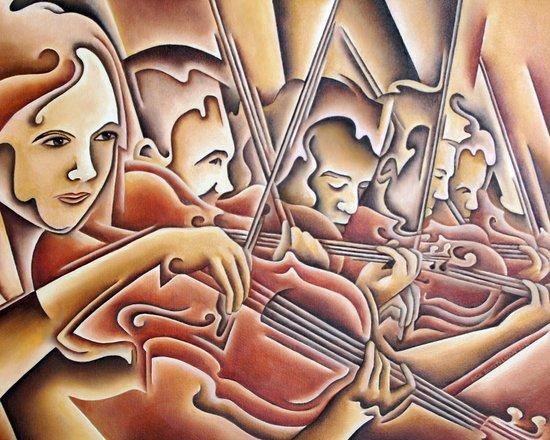 5 Violins Art Print