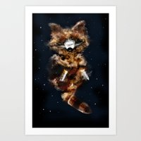Rockets Raccoon Art Print