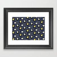 Retro Paisley Flower Framed Art Print