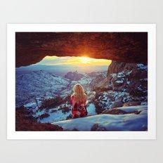 Reminiscing at sunset Art Print