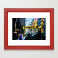 Proceed With Caution Framed Art Print