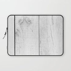 Vintage White Wood Laptop Sleeve