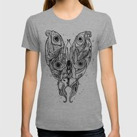 my sea butterfly Womens Fitted Tee Athletic Grey SMALL