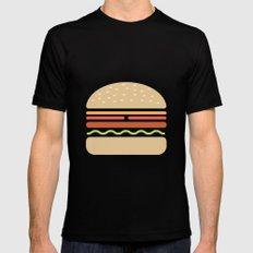 #62 Hamburger Mens Fitted Tee Black SMALL