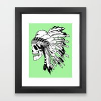 Black and White Native American  Framed Art Print