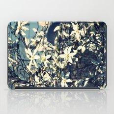 White magnolia tree iPad Case