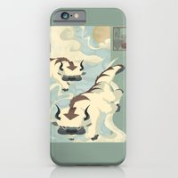 iPhone Cases featuring Original Bending Masters Series: Sky Bison by miss-meza