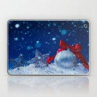 Silver Blue Ornaments Laptop & iPad Skin