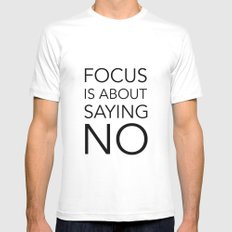 Focus is about.... SMALL White Mens Fitted Tee
