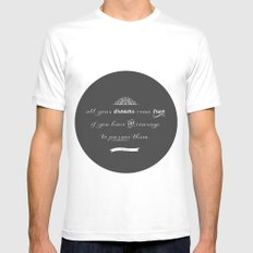 All your dreams White Mens Fitted Tee SMALL