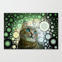 Cat Dreamy Canvas Print