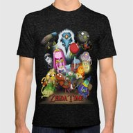 Zelda Time! Mens Fitted Tee Tri-Black SMALL