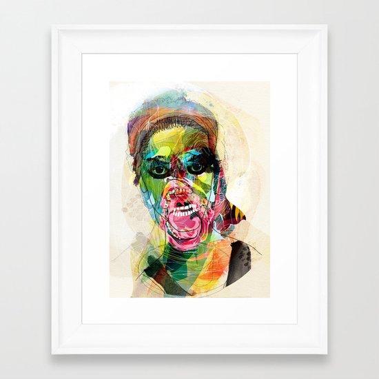 The human beast Framed Art Print