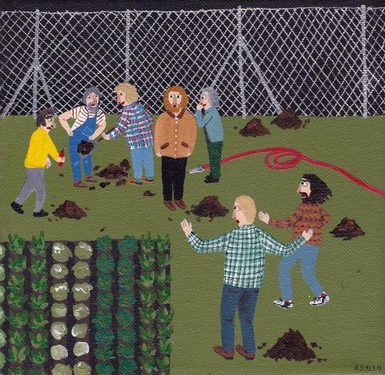 Mole Hunt Art Print