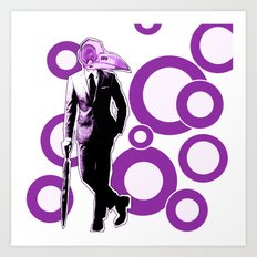 Gentlemen, We got a dead one here.. purple version Art Print