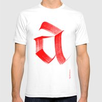 Fraktur A Mens Fitted Tee White SMALL