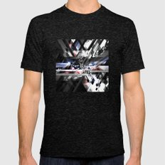 Sonic Mens Fitted Tee Tri-Black SMALL