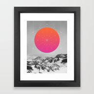 Framed Art Print featuring Middle Of Nowhere I by Soaring Anchor Desig…