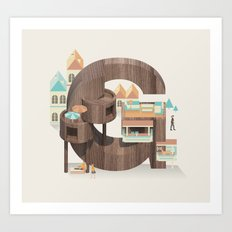 Resort Type - Letter G Art Print