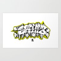3D GRAFFITI - SKILLZ Art Print