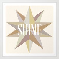 Shine Like A Star Art Print
