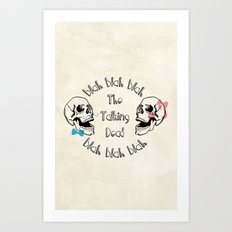 The Funny Talking Dead Skull Picture Art Print