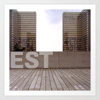 Paris EST Library Art Print