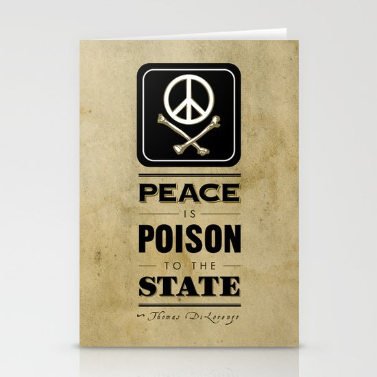 Peace is Poison to the State Stationery Card