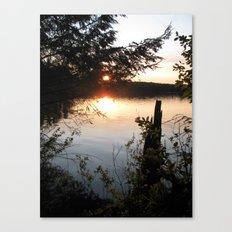 Twilight woods. Canvas Print